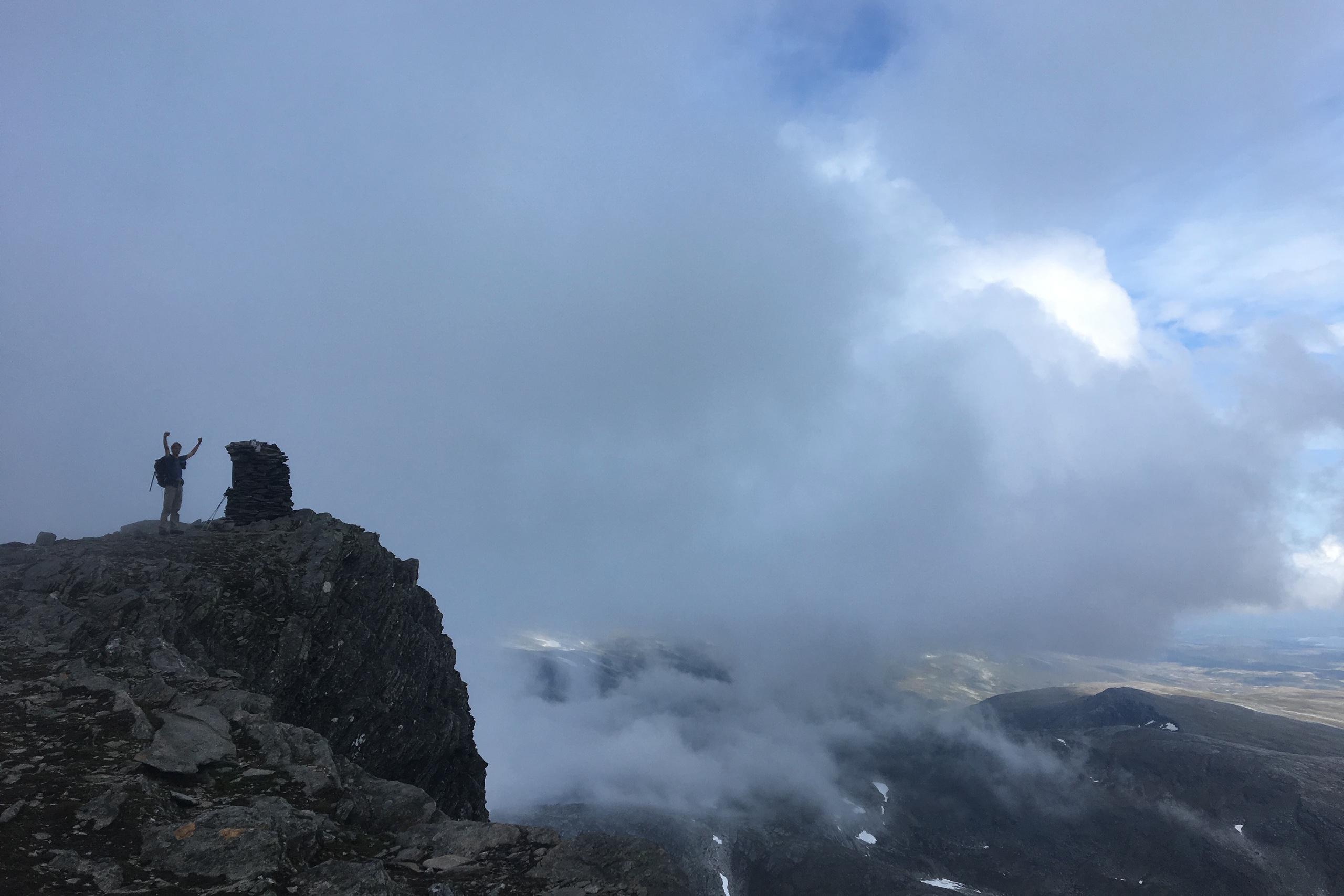 De top van de Blåhøa